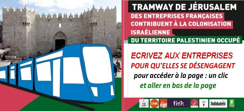 Collaboration d'entreprises françaises au tramway d'annexion : NON !